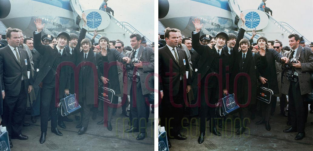 The Beatles arrive at John F. Kennedy Airport on February 7, 1964
