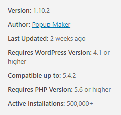 Check which version of WordPress a plugin is compatible with.