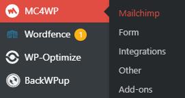 MC4WP Mailchimp settings