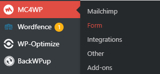 MC4WP form settings