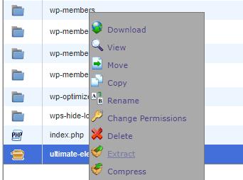 Extract uploaded plugin zip folder in cPanel