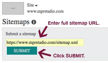 Submit XML sitemap to Bing Webmaster