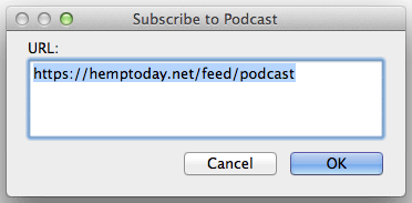 Add podcast feed to preview in iTunes