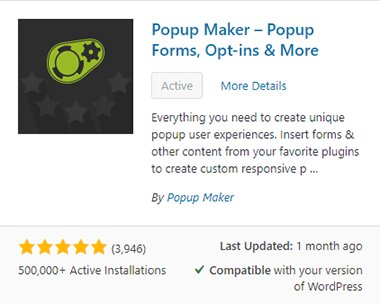 Install and activate Popup Maker plugin