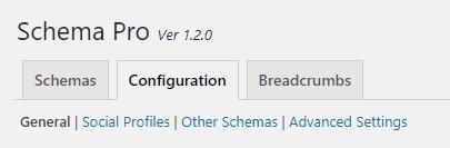 Schema Pro configuration tab