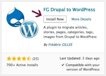 Drupal to WordPress site migration plugin