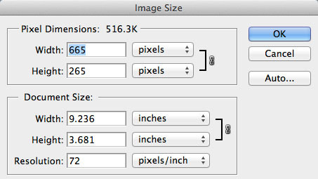 Size website images for the width of your content area.