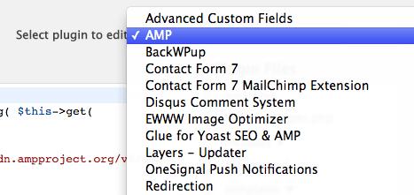 AMP plugin editor.