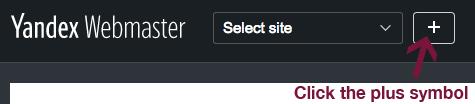 Add site to Yandex Webmaster.