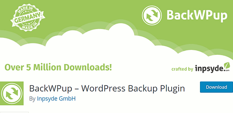 Backup WordPress for free with BackWPup.
