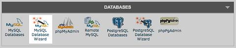 MySQL database wizard in cPanel