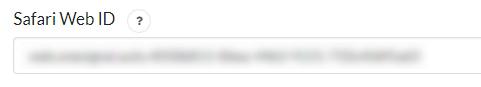 Safari Web ID in OneSignal configuration tab within WordPress.