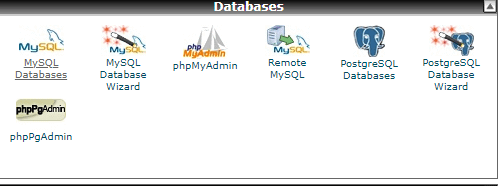 MySQL Databases in the Databases section of cPanel.