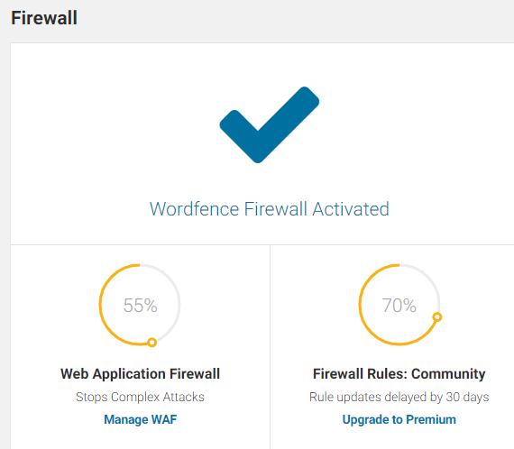 Wordfence firewall settings