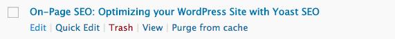 Updating old blog posts in WordPress