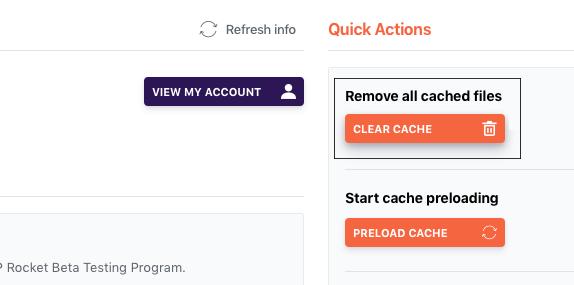 Clear cache in WP Rocket premium plugin.