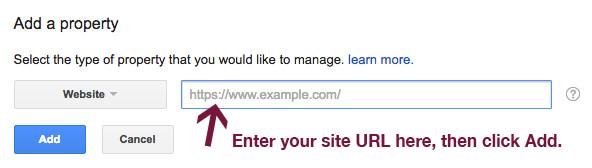 Enter URL in Google Search Console.