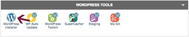 WordPress tools in cPanel