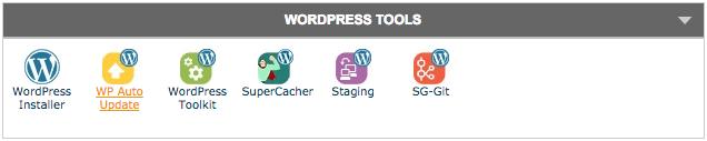 WordPress tools in SiteGround's cPanel