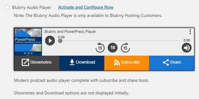 Blubrry audio player