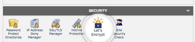 Let's Encrypt in cPanel