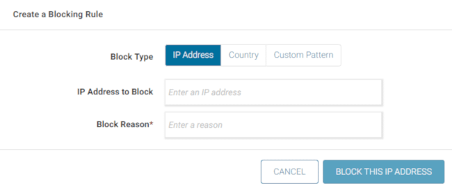 Blocking rules in Wordfence Security