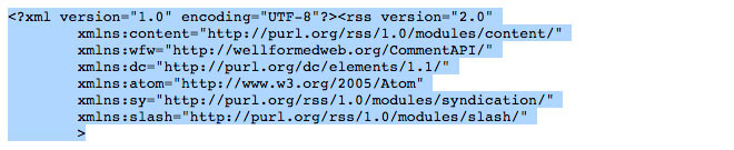 Save RSS feed text as XML file