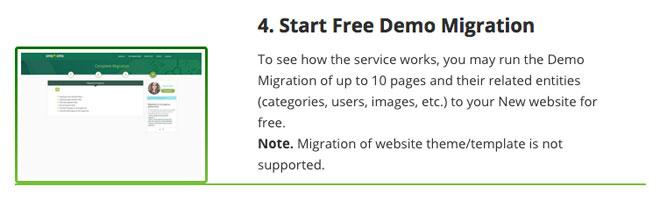 Free demo migration CMS2CMS