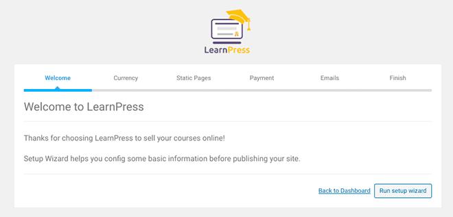 LearnPress Setup Wizard