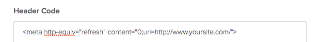 Header code area in Weebly backend.