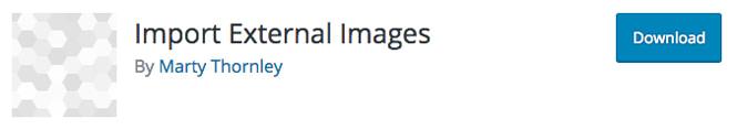Import External Images plugin