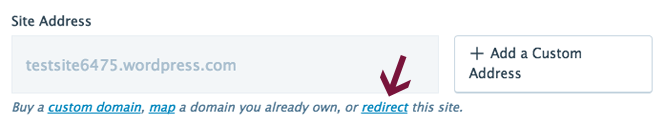 Redirect your site in WordPress.com settings.
