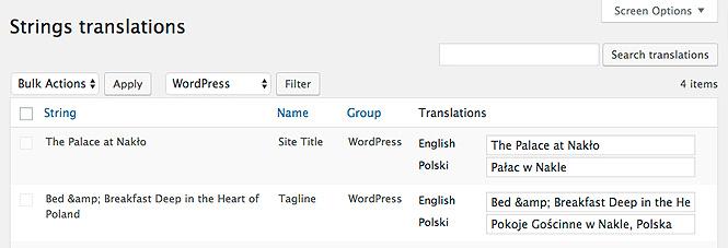 Strings translations in Polylang