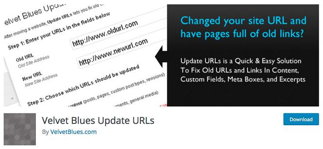 Velvet Blue Update URLs WordPress plugin.