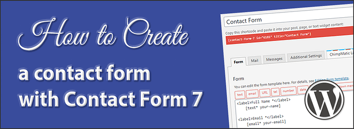 Creating a contact form with Contact Form 7