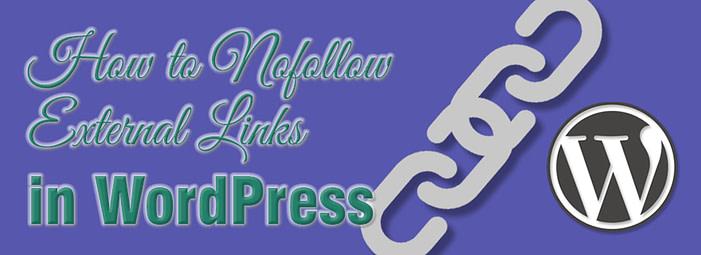 Nofollow external links in WordPress