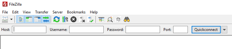 Filezilla ftp client interface