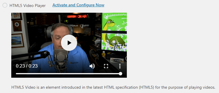 HTML5 video player in PowerPress