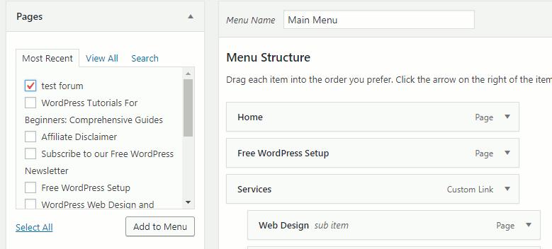 Add forum page to navigation menu