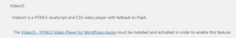 VideoJS player in PowerPress plugin