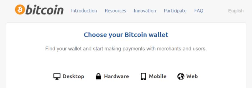 Choose a bitcoin wallet