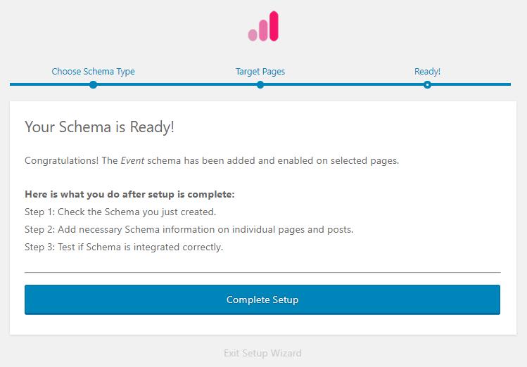 Complete schema setup