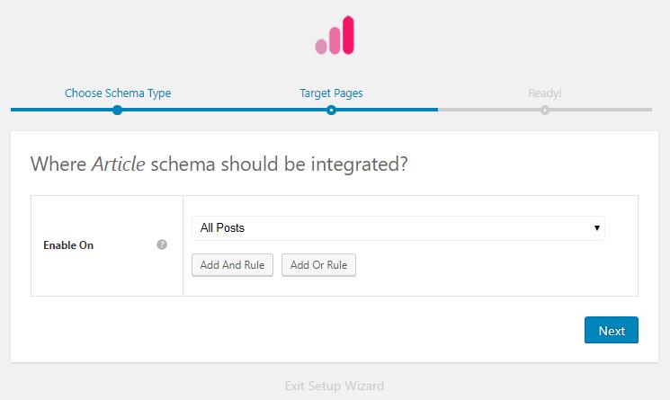 Choose where to add schema markup